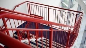 Commercial Painting - office stair railing